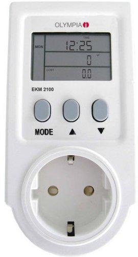 Olympia 39890 Medidor de consumo y gastos de electricidad EKM 2100