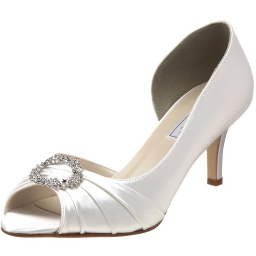 Touch Ups Women's Ivanna Pump,White,8.5 M US