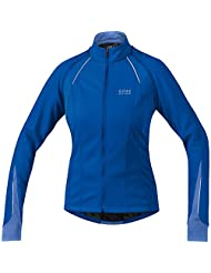 Gore Bike Wear Women's Phantom 2.0 Wind Stopper Soft Shell Jacket - Brilliant Blue/Blizzard Blue, Size 40