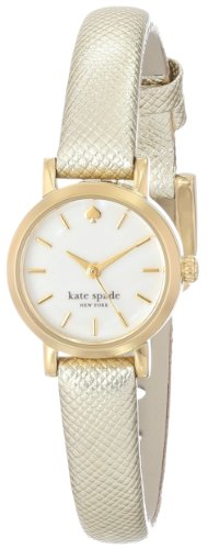 "kate spade new york Women's 1YRU0455 ""Tiny Metro"" Gold Watch with Leather Band"