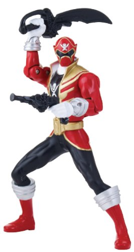 "Power Rangers Super Megaforce - 6.5"" Double Battle Action Red Ranger Action Figure, Glow in The Dark - 1"
