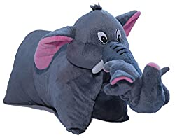 Amardeep and Co Fun Pillow - Elephant (Gray) - ad201