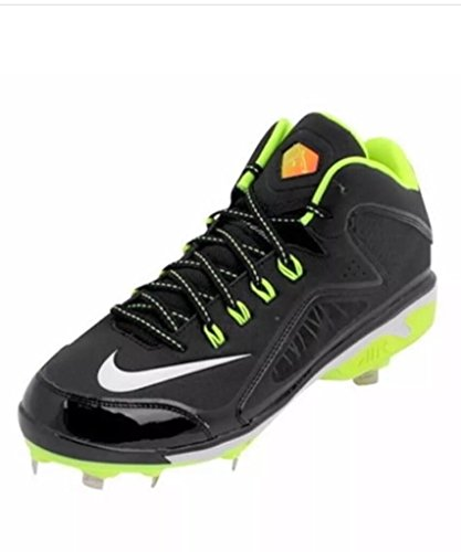 pictures of Nike Air Swingman Mvp 2 Mid Metal Black Volt (Size 11.5) 616258-017