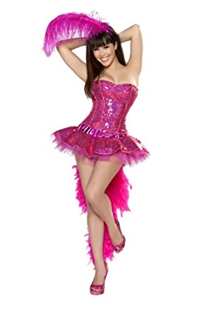 Roma Costume 3 Piece Sexy Flamingo As Shown, Pink, Small