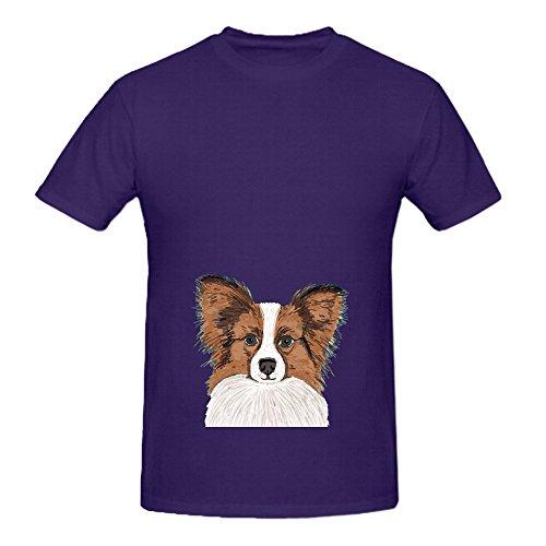 papillon-cute-dog-fluffy-puppy-men-o-neck-custom-tee-shirts-purple
