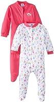 Gerber Baby-Girls' Newborn House Sleep N Play Bodysuit Two Pack, 6-9 Month