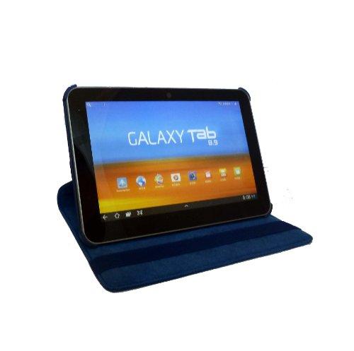 360° Rotierbar Leder Tasche case Sleeve für das Samsung 10.1 Zoll Galaxy Tab 2 P5100 P5110 - (Blau)