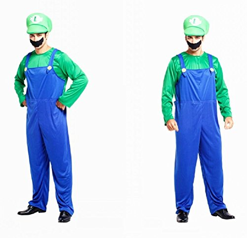 Ponce Halloween Cosplay Adult Stage Costumes Super Mario Mario Louis