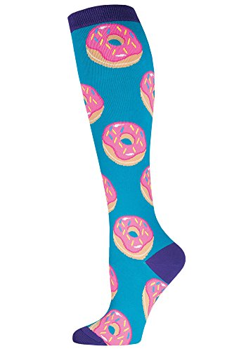 One Size Socksmith Womens Knee High Socks Donuts Lagoon