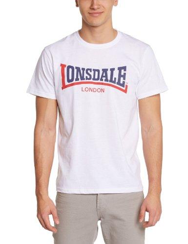 Lonsdale Men's Two Tone T-Shirt a Manica Corta da Uomo, Colore Bianco (White), Taglia X-Large