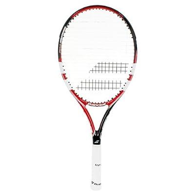 Babolat E-Sense Comp Strung Tennis Racquet, Grip 3 (Black/Red)