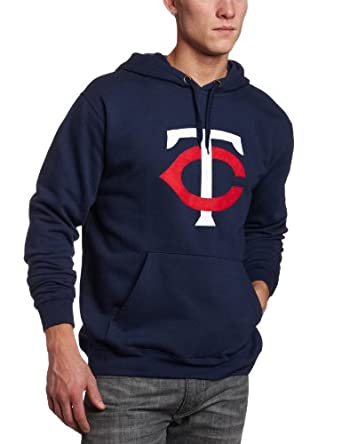 MLB Minnesota Twins Suede Tek Long Sleeve Hooded Fleece Pullover by Majestic