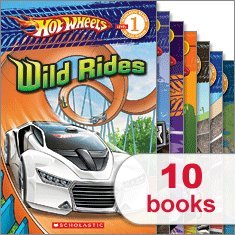 Hot Wheels Readers Library (10 Books) (Scholastic Reader Level 1, Drag Race!, Off-Roading, Race the World!, Racing U.S.A., Start Your Engines, Street Heat, Stunt Show!, Monster Trucks!, To the Extreme, Wild Rides)