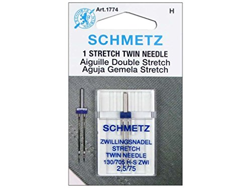 Schmetz 1774 Twin Stretch Machine Needle Size 2.5/75 1ct (Twin Needle Sewing compare prices)