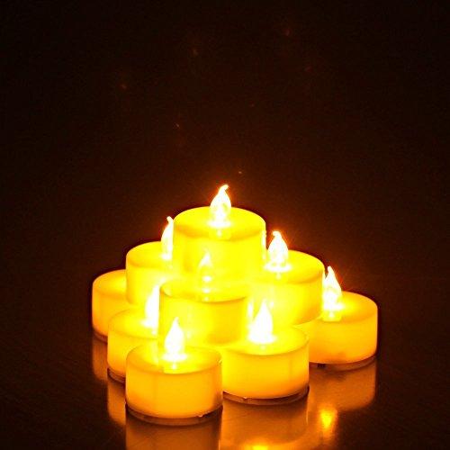 キャンドル イルミネーション ライト LED 蝋燭 癒しの灯り 自然な灯り クリスマス/パーティー/結婚式/誕生日等の用品 12個入り 点滅タイプ YELLOW
