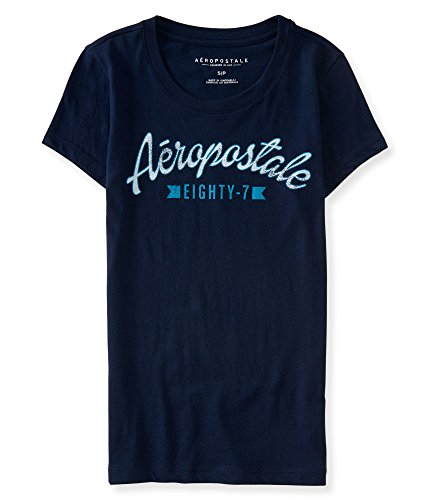 aeropostale-womens-eighty-7-banner-graphic-t-shirt-m-classic-navy