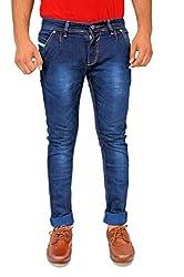 Evanzo Men's Skinny Jeans (LB3CA4E6C13_Blue_36W x 32L)