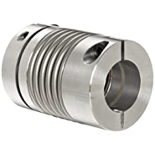 Lovejoy Bellows Coupling, BWLC Series Clamp Style, Aluminum Hubs with Stainless Steel Bellows, Complete Coupling
