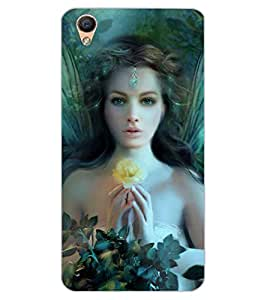ColourCraft Girl Design Back Case Cover for OPPO F1 PLUS