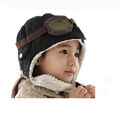 global-tesco-boys-aviator-flight-baby-hat-premium-handmade-black