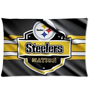 Kenneth case Custom Cotton Pillow Cases American NFL Pittsburgh Steelers Pillowcase 20X30 Inch(One Side) from Kenneth case