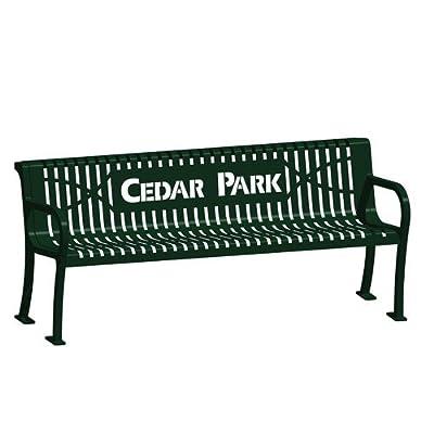4&#39 Laser Lettered Lexington Wave Bench , Item Number 1275650, Sold Per EACH