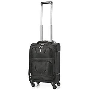 "Aerolite  Lightweight Trolley Suitcase Cases Hand Luggage, 21"", 33 Liters, Black 9976"