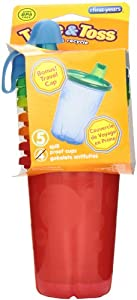 The First Years 4 Pack Take And Toss Spill Proof Cups, 10 Ounce, Colors May Vary