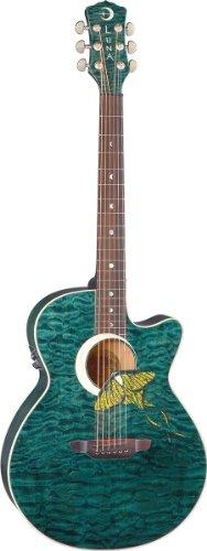 Luna Guitars Fauna Luna Moth Acoustic-Electric Guitar