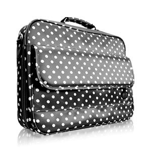 "15-17"" Black Polka Dot Laptop Carrying Bag"