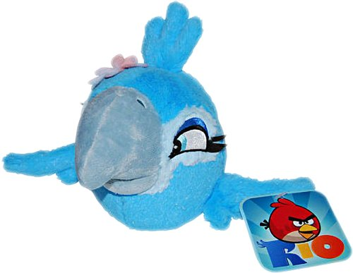 "Jewel: ~5"" Angry Birds Rio Mini-Plush w/ Sound Series - 1"