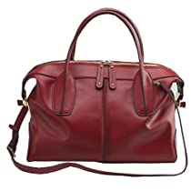 Hot Sale must have ereryday Fashion 100% leather smooth skin wine- red Shoulder Bag/Satchel (M)