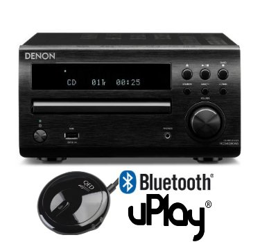 Denon DM39 DAB (Black) Compact Micro HiFi System with BlueTooth Upgrade and 4 metres of High Peformance Chord Leyline Speaker Cable