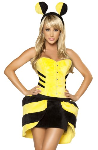 Roma Sexy Womens Bumblebee Honey Bee Halloween Costume