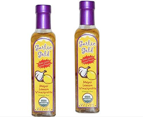 USDA Certified Organic Lemon Meyer with Extra Virgin Olive Oil Vinaigrette Salad Dressing & Marinade Vinegar Free (Pack of 2) (Black Garlic Juice compare prices)