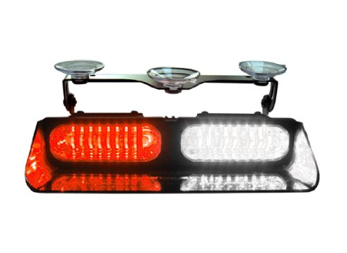 Whelen Engineering Avenger Dual Super-Led Deck/Dash Light - Red/Clear