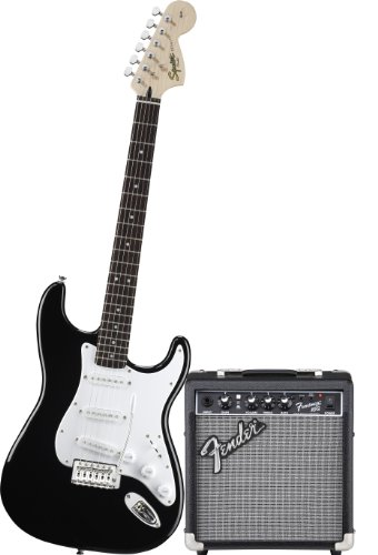 Squier By Fender Strat Electric Guitar Pack W/ Frontman 10G, Black