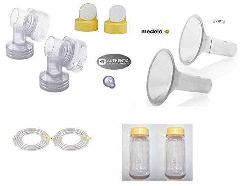 Medela Replacement Kit for medela pump in style models; starter kit.. and pump in style advanced - Breastshield 27mm ( From bulk - Non retails packing) (Medela Tubing For Symphony compare prices)