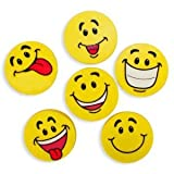 Large Smile Face Erasers (4 dz)