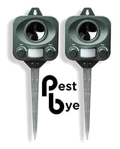 2 x Répulsifs Chat à Piles - Pestbye - Ultrason Anti Chats
