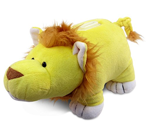 Puzzled Plush Lion Huggie Bank