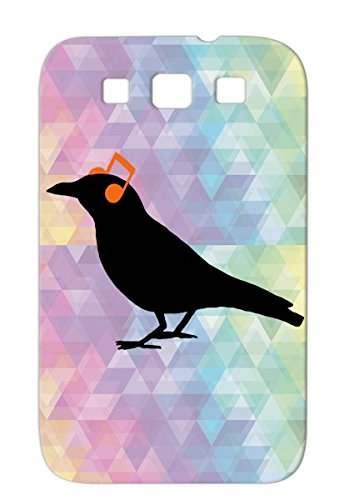 Headphones Raven Bronze Music Music Note Circuits Listen Dance Electronica Bird Composition Whistle Dubstep Musical House Banksy Electro Compose An 8 Crow Mark Headphones Sing Value For Sumsang Galaxy S3 Protective Case