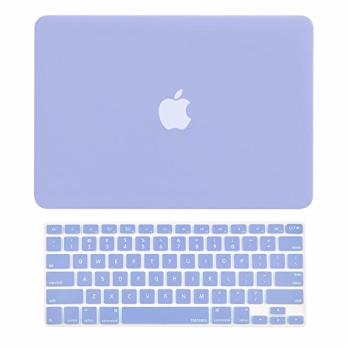 TOP CASE - 2 in 1 Bundle Deal Air 13-Inch Rubberized Hard Case Cover and Matching Color Keyboard Cover for Macbook Air 13