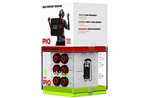 PIQ + Mobitee Golf Package (GPS-Entfernungsmesser,