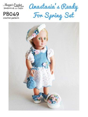 Crochet Pattern Anastasia Spring Set PB049-R