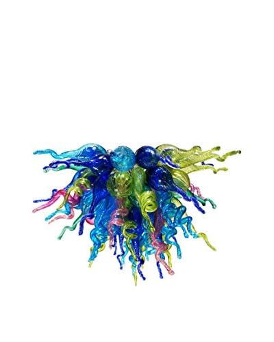 D'fine Lighting Petite Neptune's Wonders LED Art Glass Chandelier, Multi