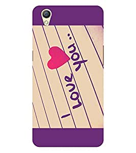 Chiraiyaa Designer Printed Premium Back Cover Case for OPPO A37 (I loe you heart paper writing) (Multicolor)