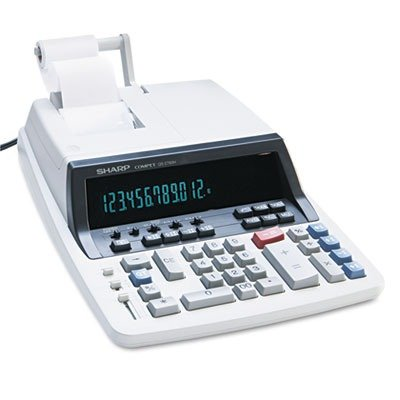 "Sharp QS2760H Commercial Printing Calculator - 12 Character(s) - Fluorescent - Power Adapter Powered - 2.96"" x 10"" x 13.31"""