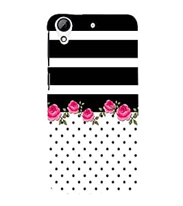 Floral Pattern Design 3D Hard Polycarbonate Designer Back Case Cover for HTC Desire 626 G::HTC Desire 626G Plus::HTC Desire 626G+