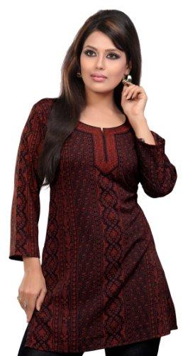 indische kurti top bedruckte damen bluse indien kleidung. Black Bedroom Furniture Sets. Home Design Ideas
